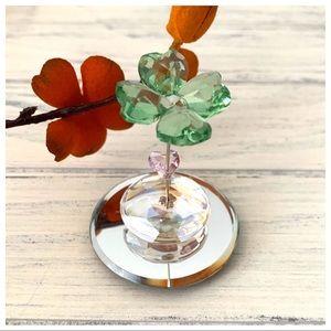 Swarovski Crystal Figurine Liv Rocking Flower